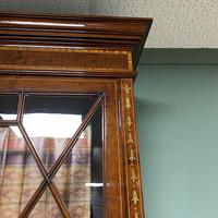 Exceptional Inlaid Victorian Antique Glazed Bookcase by Edwards and Roberts (7 of 10)