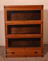 Globe Wernicke Oak Bookcase of Three Elements (2 of 12)