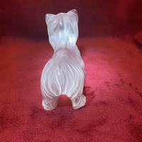 Lalique Sculpture of a Yorkshire Terrier Modelled in clear & frosted glass (2 of 5)