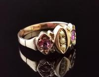 Antique Victorian Amethyst and Pearl Ring, 9ct Rose Gold (5 of 10)