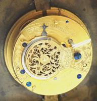 Rare Little Verge Carriage Clock Timepiece, Ormolu cased Silver Dial Mantel Clock (2 of 9)
