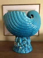 Burmantofts Faience Turquoise Glazed Shell Jardiniere (4 of 12)