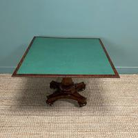 Fine Quality William IV Figured Mahogany Antique Card / Games Table (3 of 7)