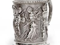 Ornate Victorian Electro Formed Silver Plated Lidded Tankard with Figural Scenes of Musicians (12 of 13)