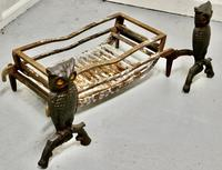 Quirky Model Owl Iron Andirons with Grate (3 of 7)
