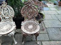 Set of Four Cast-iron Garden Chairs c.1900 (6 of 6)