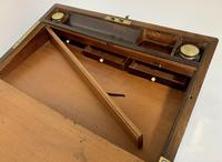 Superb Antique Victorian Rosewood Brass Bound Writing Slope Box (6 of 15)