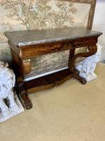 19th Century Burr Walnut Console Table (8 of 8)