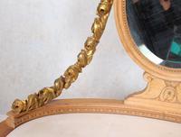 Neoclassical Marble Dressing Table Gilt Mirrored Vanity Satinwood (10 of 14)