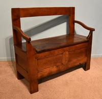 Early Nineteenth Century French Cherry Wood Bench (7 of 7)