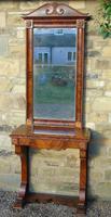 Fine 19th Century French Mahogany Console Table & Mirror en-suite