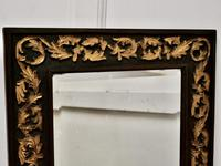 19th century Carved Oak and Gilt Wall Mirror (6 of 6)