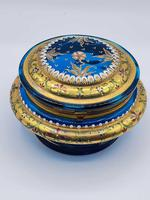 Antique 19th Century Moser Glass Enamel Box (5 of 11)