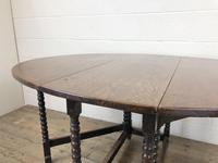Antique 19th Century Oak Gateleg Dining Table (4 of 10)