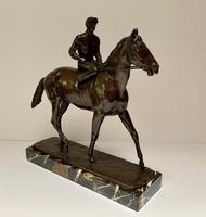 John Rattenbury Skeaping Bronze - Horse & Jockey - Inscribed (2 of 5)