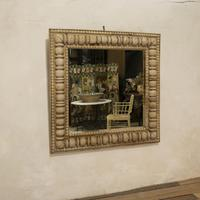 Large Square Late 19th Century French Wall - Overmantle Mirror (2 of 13)