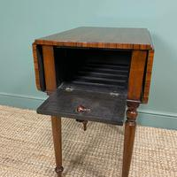 Rare Regency Rosewood Small Antique Pembroke Table (5 of 7)