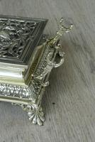 Super Large William Tonks & Sons Phoenix Brass Inkwell with Stamp Tray c.1890 (7 of 12)