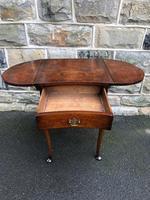 Antique Burr Walnut Drop Flap Side Table (7 of 9)