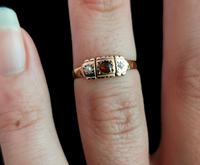 Victorian Garnet & Pearl Ring, 9ct Gold (13 of 13)