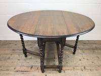 Early 20th Century Antique Oak Gateleg Table (7 of 12)