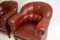 Pair of Antique Swedish  Leather Club Armchairs (5 of 11)