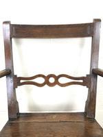 19th Century Welsh Oak Ball & Rail Back Chair (4 of 9)