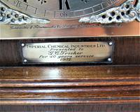 Outstanding 1952 English Westminster Chime Presentation Bracket Clock (8 of 9)