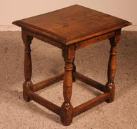 French Stool in Oak - 17th Century (4 of 10)