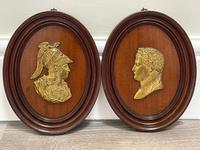 Pair of Interesting 19th Century Gilded Bronze Alexander The Great & Napoleon Cameo Plaques (7 of 29)