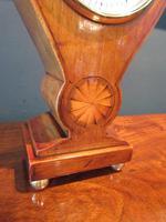 Edwardian Sheraton Teardrop Mantel Clock (3 of 6)