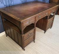 Victorian Oak Aesthetic Movement Desk (12 of 18)