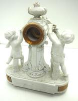 French Empire Figural Mantel Clock – Bisque Porcelain Cherub Verge Mantle Clock c.1800 (12 of 13)