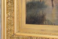 Large Oil Painting by William Perring Hollyer Titled 'Courtship' (8 of 10)
