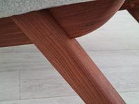Danish Design, Illum Wikkelsø, Renovated / Reupholstered Armchair, 70s, Furniture Wool, Teak (6 of 13)