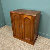Beautifully Figured Victorian Walnut Antique Cupboard (3 of 7)