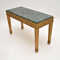 French Giltwood Marble Top Coffee Table c.1930 (3 of 8)
