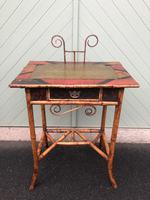 Antique Lacquered Bamboo Desk