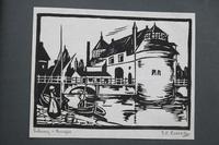 Album of 10 Woodblock Prints by Geoffrey Robert Russell (8 of 12)