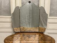 Queen Anne Burr Walnut Kidney Dressing Table (16 of 17)