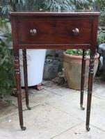 1820s Mahogany Single Drawer Work / Side Table (3 of 6)