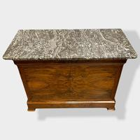 Figured Walnut & Marble Top Commode (4 of 16)