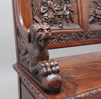 Superb Quality 19th Century Oak Box Settle (8 of 16)