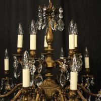 Italian Gilded 15 Light Antique Chandelier (9 of 10)