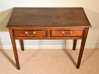 18th Century Oak Two Drawer Side Table (4 of 4)