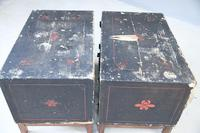 Pair of Small Black Chinese Painted Cabinet (5 of 12)