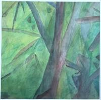 Original Watercolour 'Into the Forest' by Doreen Heaton Potworowski - Initialled 1971 - Framed (2 of 2)