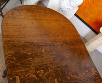 Oak Gateleg Dining Table & 4 Chairs Arts Crafts (14 of 17)