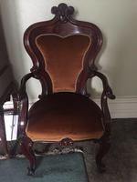 Antique Library Chair 19th Century