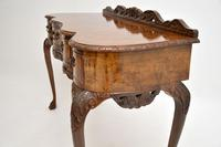 Queen Anne Style Burr Walnut Server Table c.1930 (5 of 12)